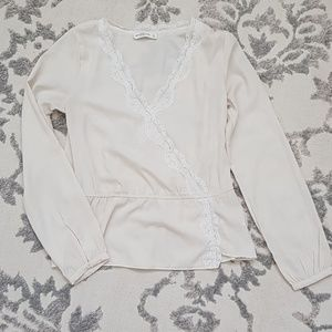 Abercrombie Edwardian lace crossover blouse, Small